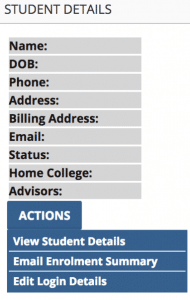 Access Enrolment Summary