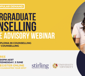 3 JUNE | Undergraduate Counselling Course Advisory Webinar
