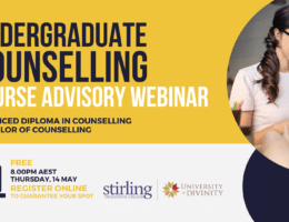 14 MAY | Undergraduate Counselling Course Advisory Webinar