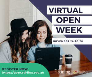 Promo Flyer Stirling College Virtual Open Week